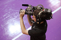 04 MAY 2007 - LOUGHBOROUGH, UK - TV cameraman - Loughborough Lightning v Northern Thunder. (PHOTO (C) NIGEL FARROW)