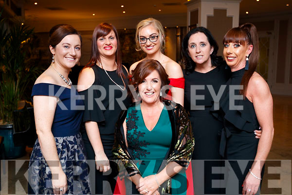 Julie Lenihan, Lisa Hobbert, Jennifer Murphy, Mary Hobbert and  Brenda Hobbert and Jacinta Hobbert, Tralee at the Black Tie ball at the Rose Hotel, Tralee on New Years Eve.