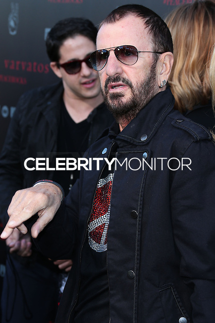 WEST HOLLYWOOD, CA, USA - SEPTEMBER 21: Ringo Starr arrive at the John Varvatos #PeaceRocks Ringo Starr Private Concert held at the John Varvatos Boutique on September 21, 2014 in West Hollywood, California, United States. (Photo by Xavier Collin/Celebrity Monitor)
