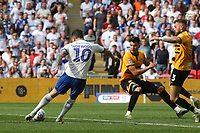 James Norwood of Tranmere takes a shot at the Newport County goal during Newport County vs Tranmere Rovers, Sky Bet EFL League 2 Play-Off Final Football at Wembley Stadium on 25th May 2019