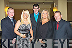 SOCCER: Having a great time at the Tralee Dynamos annual social at the Brandon hotel on Saturday l-r: Bobby Lynch, Sarah Lynch, Stephen Higginson, Ann Lynch and Miah Lynch.