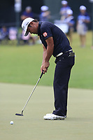 Hideto Tanihara (JPN) putts on the 18th green during Friday's Round 2 of the 2017 PGA Championship held at Quail Hollow Golf Club, Charlotte, North Carolina, USA. 11th August 2017.<br /> Picture: Eoin Clarke | Golffile<br /> <br /> <br /> All photos usage must carry mandatory copyright credit (&copy; Golffile | Eoin Clarke)