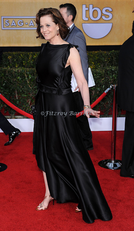 Sigourney Weaver arriving at the 19th Screen Actors Guild Awards held at the Shrine Auditorium in Los Angeles, CA. January 27, 2013.