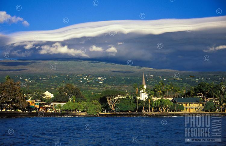 Kailua-Kona town from water, Big Island