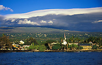 Kailua-Kona town from water, Big Island