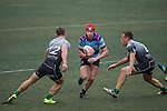Natixis HFC (in stripes) vs Devils Own Shanghai Rugby (in grey) during GFI HKFC Rugby Tens 2016 on 07 April 2016 at Hong Kong Football Club in Hong Kong, China. Photo by Juan Manuel Serrano / Power Sport Images
