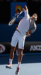 Novak Djokovic (SRB) defeats Fabio Fognini (ITA) 6-3, 6-0, 6-2 at the Australian Open in Melbourne, Australia on January 19 2014