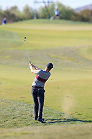 Lucas Bjerregaard (DEN) on the 3rd during the 1st round of the 2017 Portugal Masters, Dom Pedro Victoria Golf Course, Vilamoura, Portugal. 21/09/2017<br /> Picture: Fran Caffrey / Golffile<br /> <br /> All photo usage must carry mandatory copyright credit (&copy; Golffile | Fran Caffrey)