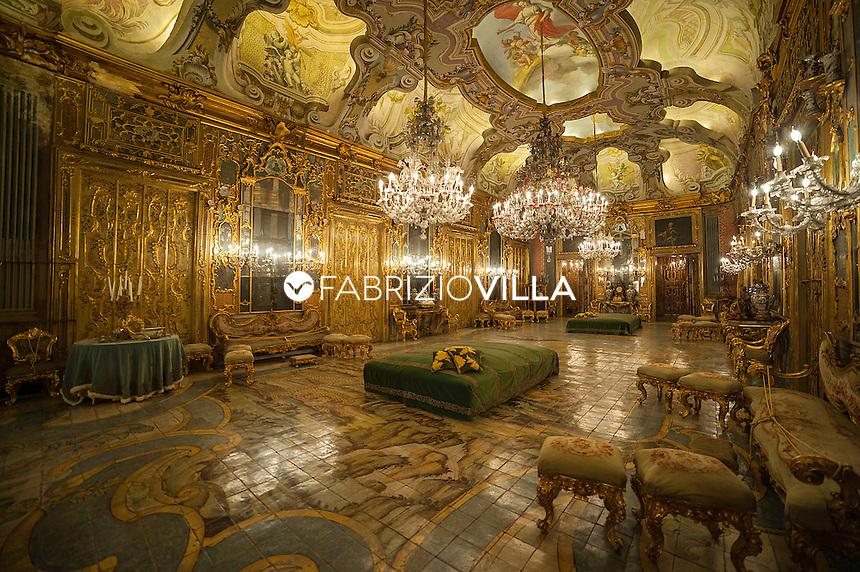 Palermo, Palazzo Ganci Valguarnera. <br /> La principessa Carine Vanni Calvello