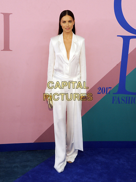 NEW YORK, NY - JUNE 5: Adriana Lima at the 2017 CFDA Fashion Awards at The Hammerstein Ballroom in New York City on June 5, 2017. <br /> CAP/MPI/JP<br /> &copy;JP/MPI/Capital Pictures