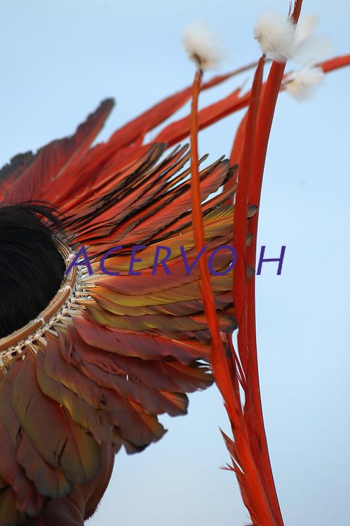 III Jogos Tradicionais Indígenas do Pará, que este ano conta com a participação de 16 etnias de 4 estados,   <br /> Conceição do Araguaia, Pará, Brasil<br /> 22/08/2006.Foto Paulo Santos.