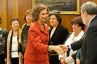 Queen Sofia of Spain attend several audiences at Palacio de la Zarzuela in Madrid, Spain. January 17, 2013. (ALTERPHOTOS/Caro Marin) /NortePhoto