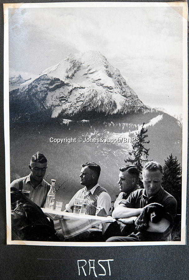 BNPS.co.uk (01202 558833)<br /> Pic: Jones&Jacob/BNPS<br /> <br /> 'Rest' The LSSAH off duty in the stunning alpine landscape around Berchtesgaden.<br /> <br /> Springtime for Hitler...Chilling album of pictures taken by one of Hitlers bodyguards illustrates the Nazi dictators rise to power.<br /> <br /> An unseen album of photographs taken by a member of Hitlers own elite SS bodyguard division in the years leading up to the start of WW2.<br /> <br /> The 1st SS Panzer Division 'Leibstandarte SS Adolf Hitler' or LSSAH began as Adolf Hitler's personal bodyguard in the 1920's responsible for guarding the Führer's 'person, offices, and residences'.