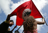Members of Brazil's Landless Rural Workers' Movement (MST) during celebration reminding the massacre in which 19 MST members were killed by the police in Eldorado dos Carajas at Pará state northern of Brazil, on 17 April, 2006.