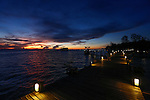 Sunset from the main resort building at Lankayan in the Sulu Sea on Wednesday May 1st 2013 in Sandakan, Malaysia. (Photo by Brian Garfinkel)