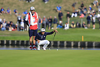 Rickie Fowler Team USA on the 15th green during Friday's Foursomes Matches at the 2018 Ryder Cup 2018, Le Golf National, Ile-de-France, France. 28/09/2018.<br /> Picture Eoin Clarke / Golffile.ie<br /> <br /> All photo usage must carry mandatory copyright credit (&copy; Golffile | Eoin Clarke)