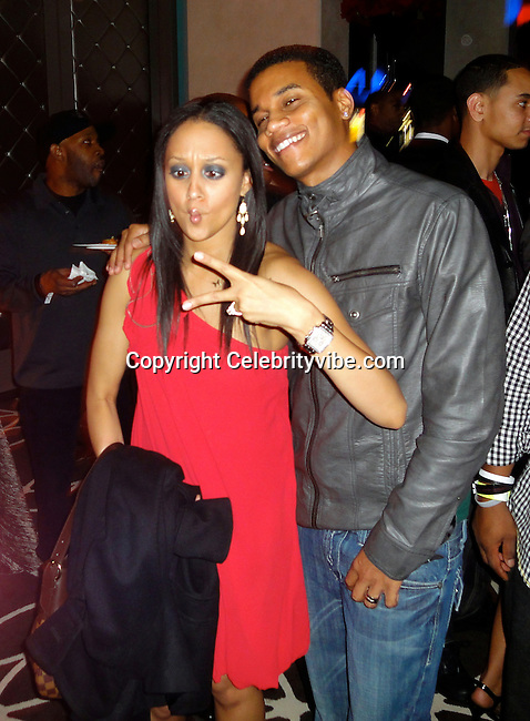 **EXCLUSIVE**.Tamera Mowry and Hosea Chanchez..Midnight GRAMMY Brunch Hosted By Ne Yo - Inside..W Hollywood Hotel..Hollywood, CA, USA..Saturday, January 30, 2010..Photo By Celebrityvibe.com.To license this image please call (212) 410 5354; or Email: celebrityvibe@gmail.com ; .website: www.celebrityvibe.com.