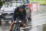 Andrey Amador (CRC) Movistar Team in action during Stage 1, a 14km individual time trial around Dusseldorf, of the 104th edition of the Tour de France 2017, Dusseldorf, Germany. 1st July 2017.<br /> Picture: Eoin Clarke | Cyclefile<br /> <br /> <br /> All photos usage must carry mandatory copyright credit (&copy; Cyclefile | Eoin Clarke)
