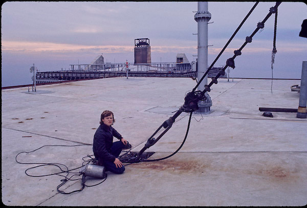 Philippe Petit on South Tower of WTC