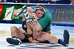 BROOKINGS, SD - FEBRUARY 4:  David Kocer from South Dakota State battles with Kimball Bastain from Utah Valley during their 174 pound match at Frost Arena Saturday night. (Photo by Dave Eggen/Inertia)