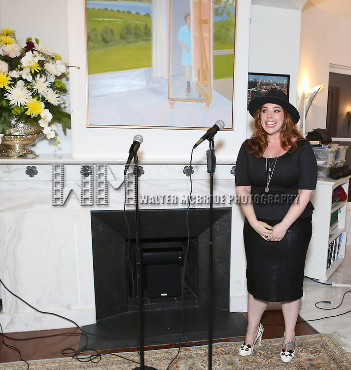 Alysha Umphress performs at 'Parlor Night' A benefit evening for The Broadway Inspirational Voices Outreach Program at the home of Roy and Jenny Neiderhoffer on June 22, 2015 in New York City.