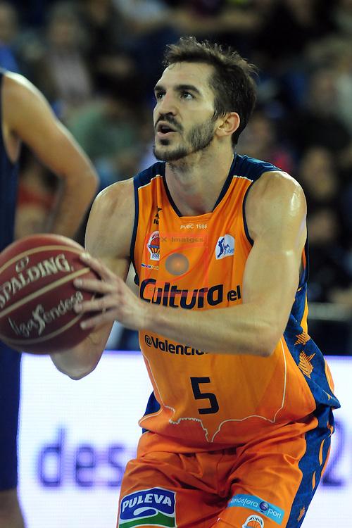 League ACB-Endesa 2014/2015 - Game: 07.<br /> FC Barcelona vs Valencia Basket Club: 76-57.<br /> Pau Ribas.