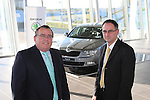 Pictured at the announcement of the ?KODA dealership in Western Motors, Drogheda is Zac Hollis, Brand Director, ?KODA Ireland and Simon McCormack, dealer principal, Western Motors Drogheda...Picture: Fran Caffrey/www.newsfile.ie.NO REPO FEE.