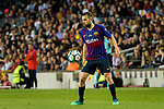 Jordi Alba of FC Barcelona in action during the La Liga match between Barcelona and Real Sociedad at Camp Nou on May 20, 2018 in Barcelona, Spain. Photo by Vicens Gimenez / Power Sport Images