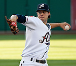 Reno Aces starter Tyler Skaggs throws agianst the Colorado Sky Sox during their game on Tuesday night July 24, 2012 at Aces Ballpark in Reno NV.