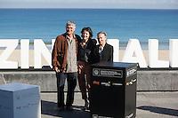Actors Iraia Elias, Kandido Uranga and Amparo Badiola pose during `Amama´ film presenation at 63rd Donostia Zinemaldia (San Sebastian International Film Festival) in San Sebastian, Spain. September 21, 2015. (ALTERPHOTOS/Victor Blanco) /NortePhoto.com
