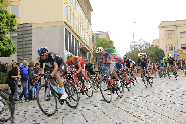 The peloton pass through Nuoro Stage 2 of the 100th edition of the Giro d'Italia 2017, running 221km from Olbia to Tortoli, Sardinia, Italy. 6th May 2017.<br /> Picture: Ann Clarke | Cyclefile<br /> <br /> <br /> All photos usage must carry mandatory copyright credit (&copy; Cyclefile | Ann Clarke)