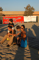 Focene, 1 Settembre 2007.Commemorazione di Renato Biagetti sulla spiaggia dove è stato ucciso nel 2006.Commemoration of Renato Biagetti in the  beach where was killed in 2006