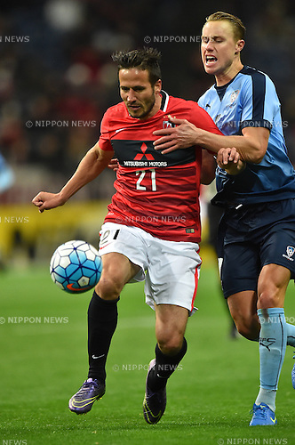 Zlatan Ljubijankic (Reds), Zachary Anderson (Sydney FC),<br /> FEBRUARY 24, 2016 - Football / Soccer :<br /> AFC Champions League Group H match between Urawa Red Diamonds 2-0 Sydney FC at Saitama Stadium 2002 in Saitama, Japan. (Photo by AFLO)