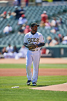 Salt Lake Bees starting pitcher Ivan Pineyro (29) during the game against the Albuquerque Isotopes at Smith's Ballpark on April 22, 2018 in Salt Lake City, Utah. The Bees defeated the Isotopes 11-9. (Stephen Smith/Four Seam Images)