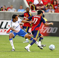 Ramiro Corrales, Andy Williams, Javiar Morales in the San Jose Earthquakes @ Real Salt Lake 1-1 draw at Rio Tinto Stadium in Sandy, Utah on July 03, 2009
