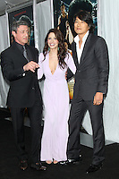 NEW YORK, NY - JANUARY 29: Sylvester Stallone, Sarah Shahi and Sung Kang at the US film premiere of Warner Bros. Pictures Bullet To The Head at AMC Lincoln Square in New York City. January 29, 2013. Credit: RW/MediaPunch Inc.
