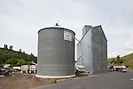 Trapezoidal-shaped corrugated grain elevator and storage tank for the Whitman County Growers, Colfax, Wash.
