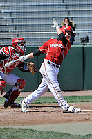 Louisville Cardinals infielder Ty Young (30) during a game against St.John's Red Storm at Jack Kaiser Stadium in Queens, New York;  April 17, 2011.  St. John's defeated Louisville 7-2.  Photo By Tomasso DeRosa/Four Seam Images