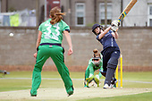 Scotland V Ireland - Women's Cricket International - Scotland opener Ollie Rae hits out early in today T20 at Forthill, Broughty Ferry - picture by Donald MacLeod - 01.08.2017 - 07702 319 738 - clanmacleod@btinternet.com - www.donald-macleod.com