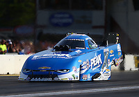 Jun 3, 2016; Epping , NH, USA; NHRA funny car driver John Force during qualifying for the New England Nationals at New England Dragway. Mandatory Credit: Mark J. Rebilas-USA TODAY Sports
