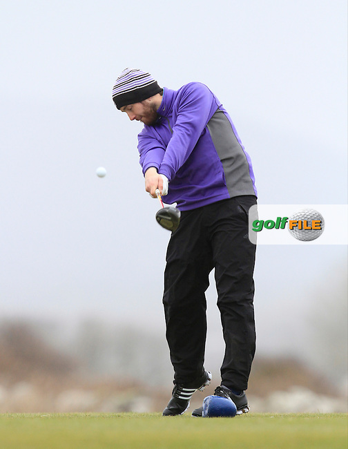Gerard Dunne (Co. Louth) on the 12th tee during the 36 hole stroke play qualifying on April 3rd 2015 for the 2015 West of Ireland Open Championship, Co. Sligo, Golf Club, Rosses Point, Sligo, Ireland.<br /> Picture: Thos Caffrey / Golffile