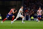 Diego Costa of Atletico de Madrid and Toni Kroos of Real Madrid during La Liga match between Atletico de Madrid and Real Madrid at Wanda Metropolitano Stadium{ in Madrid, Spain. {iptcmonthname} 28, 2019. (ALTERPHOTOS/A. Perez Meca)