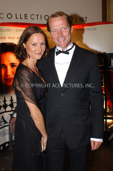 WWW.ACEPIXS.COM . . . . .  ... . . . . US SALES ONLY . . . . .....DUBLIN, SEPTEMBER 29, 2005....Iain Glen and Charlotte Emerson at the World Premiere of 'Tara Road' held at the Savoy Cinema.....Please byline: FAMOUS-ACE PICTURES-B. LINDBERG... . . . .  ....Ace Pictures, Inc:  ..Craig Ashby (212) 243-8787..e-mail: picturedesk@acepixs.com..web: http://www.acepixs.com