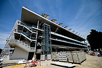 3rd June 2020, Roland GarrTennis complex, Paris, France; The new automatic roofing system over the stadium Philippe Chatrier stadium is tested