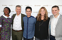"LOS ANGELES, CA July 13- Pectachai Dejkraisak, Son Preminger, James Steere, Alvaro Vasquez, Chioma Ukuno, At Chivas Regal ""The Final Pitch"" at The LADC Studios, California on July 13, 2017. Credit: Faye Sadou/MediaPunch"