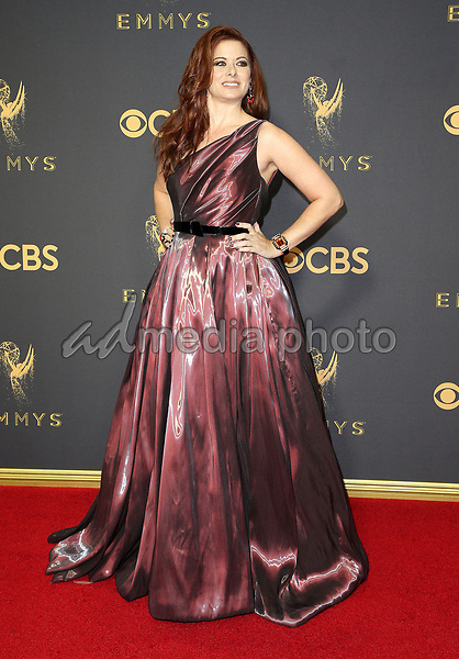 17 September 2017 - Los Angeles, California - Debra Messing. 69th Annual Primetime Emmy Awards held at Microsoft Theater. Photo Credit: F. Sadou/AdMedia