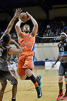 Brian Conklin in action during the NBL Final Four - Hawks v Sharks at TSB Bank Arena, Wellington, New Zealand on Friday 4 July 2014. <br /> Photo by Masanori Udagawa. <br /> www.photowellington.photoshelter.com.