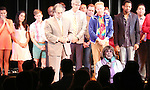 Phyllis Newman with Cast Alumni cast during the Curtain Call for the One Night Only 10th Anniversary Concert of 'The 25th Annual Putnam County Spelling Bee' at Town Hall on July 6, 2015 in New York City.