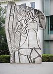 Picasso 'Sylvette' created 1970 sculpture public artwork outside Museum Boijmans van Beuningen, Rotterdam Netherlands