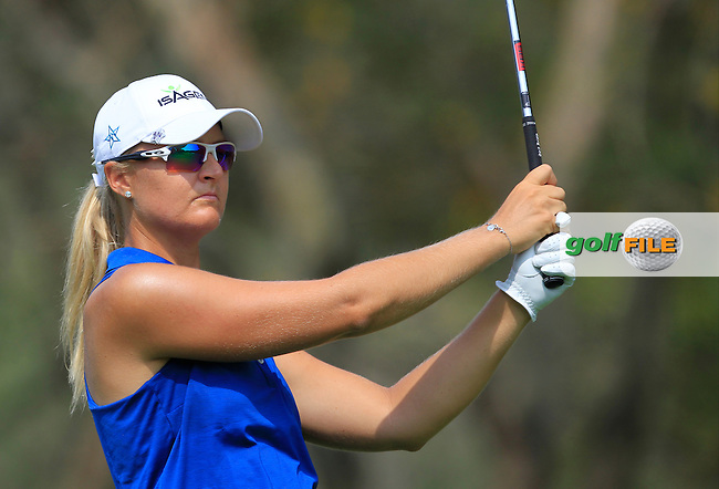 Anna Nordqvist (SWE) on the 12th tee during Round 1 of the Honda LPGA Thailand on Thursday 23rd February 2017.<br /> Picture:  Thos Caffrey / Golffile
